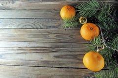 圣诞节背景用蜜桔 库存图片
