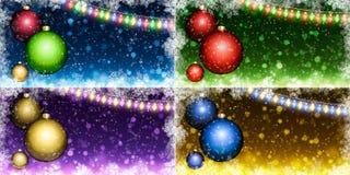 圣诞节背景的收集 免版税库存图片