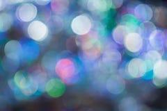 圣诞节背景的Bokeh, 免版税库存图片