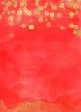 圣诞节背景红色金子Bokeh 向量例证