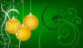 圣诞节背景绿色 库存照片