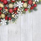 圣诞节背景边界 免版税库存照片