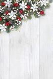 圣诞节背景雪花边界 库存图片