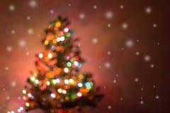 圣诞节背景,图象迷离bokeh defocused光 免版税库存照片