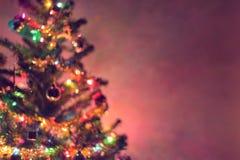 圣诞节背景,图象迷离bokeh defocused光 免版税图库摄影