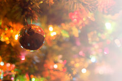 圣诞节背景,图象迷离bokeh defocused光 免版税库存图片