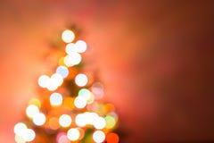 圣诞节背景,图象迷离bokeh defocused光 库存照片