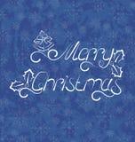 圣诞节背景,圣诞快乐字法 免版税库存照片
