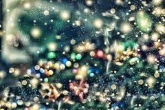 圣诞节背景,圣诞节 不可思议的神仙的背景 被弄脏的Bokeh迷离 抽象背景 免版税库存照片