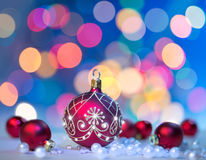 圣诞节背景,您的文本的空间 免版税库存图片