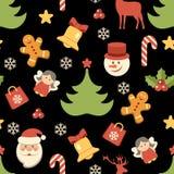 圣诞节背景,无缝的样式 也corel凹道例证向量 向量例证