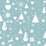 圣诞节背景,无缝的盖瓦,包裹的巨大选择 库存照片