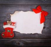 圣诞节背景-圣诞老人概念的消息 免版税库存图片