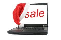 圣诞节膝上型计算机销售额 免版税图库摄影