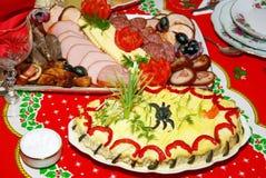 圣诞节膳食 免版税库存图片
