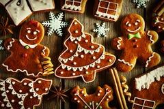 圣诞节自创姜饼曲奇饼 库存照片