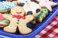 圣诞节自创姜饼的曲奇饼 库存照片