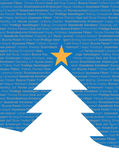 圣诞节舌多原文结构树 免版税库存照片