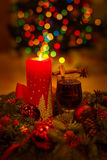 圣诞节舒适自在的静物画 库存照片