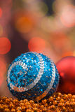 圣诞节色的装饰 免版税图库摄影