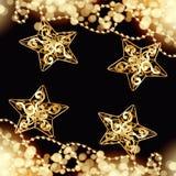 圣诞节艺术设计黑色背景 免版税库存图片