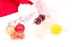 圣诞节节假日与装饰的温泉概念 库存图片