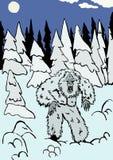 圣诞节节假日俄国冬天雪人 免版税库存照片