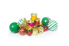 圣诞节节日新年好的庆祝的设备 免版税库存图片