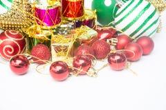 圣诞节节日新年好的庆祝的设备 库存图片