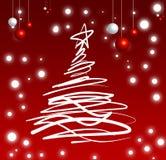 圣诞节节日结构树 免版税库存照片