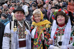 圣诞节节日Malanka Fest_14 免版税图库摄影