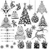 圣诞节花卉装饰 向量例证