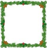 圣诞节花圈框架 免版税库存照片