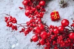 圣诞节花圈浆果 免版税库存图片