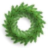 圣诞节花圈由现实看的杉木分支做成 10 eps 皇族释放例证