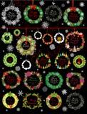圣诞节花圈的汇集 图库摄影