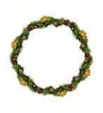 圣诞节花圈被隔绝在白色背景 免版税库存照片