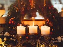 圣诞节花圈装饰欢乐装饰品 免版税库存照片