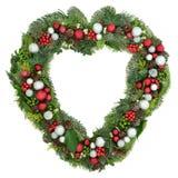 圣诞节花圈装饰 免版税图库摄影