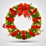 圣诞节花圈设计 免版税库存照片