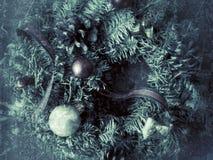 圣诞节花圈难看的东西 库存图片