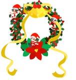 圣诞节花圈-绿色 免版税库存照片