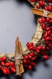 圣诞节花圈细节 库存图片