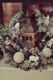 圣诞节花圈 图库摄影