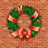 圣诞节花圈 向量例证