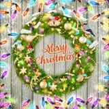 圣诞节花圈 10 eps 免版税库存照片