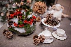 圣诞节花束 库存图片