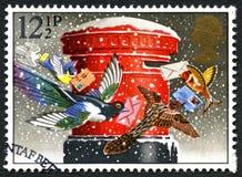 圣诞节英国邮票 库存照片
