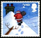 圣诞节英国邮票 免版税库存图片