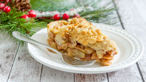 圣诞节苹果饼 图库摄影